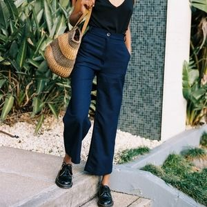 Caves Collect Lucie Navy Cotton Pants 26